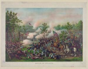 An Illustration of the Battle of Atlanta. From the Library of Congress.  http://cdn.loc.gov/service/pnp/pga/01800/01842r.jpg