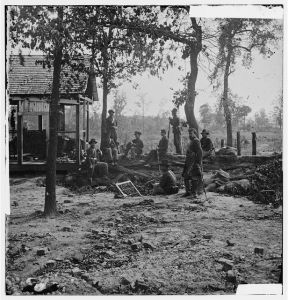 Union troops outside of Atlanta. From the Library of Congress. http://www.loc.gov/pictures/resource/cwpb.02235/