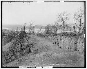 A Photograph of the ground works around Vicksburg. From the Library of Congress.  http://www.loc.gov/pictures/resource/det.4a05884/