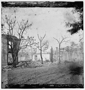 Savannah destroyed. From the Library of Congress.  http://www.loc.gov/pictures/resource/cwpb.03242/