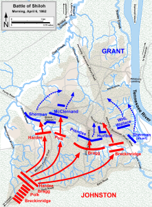 Click to zoom. Shiloh battlefield map.
