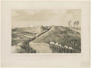 An Illustration of the Siege of Vicksburg. From the Library of Congress. http://www.loc.gov/pictures/resource/ppmsca.35360/